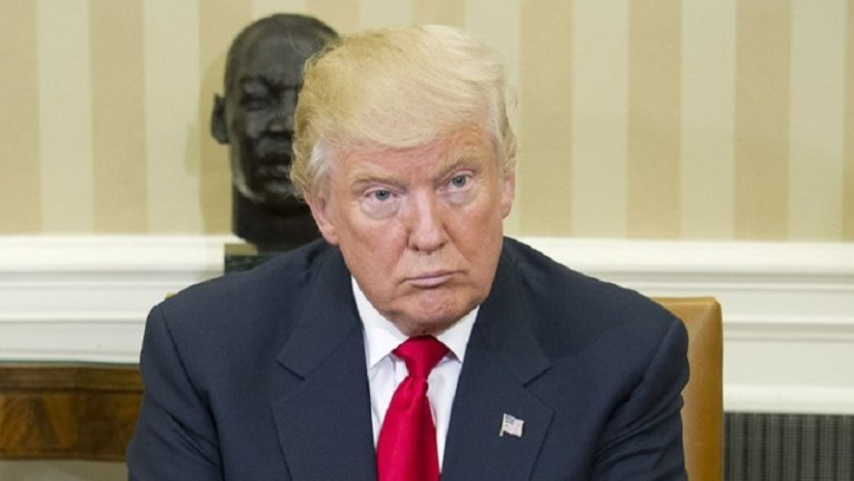 No New York or New Jersey Newspapers or newspapers within a 75 mile radius of any part of New York Mandatory Credit: Photo by REX/Shutterstock (7430884i) United States President-elect Donald Trump listens as US Barack Obama makes remarks to the media pool in the Oval Office of the White House President Barack Obama meets with President-elect Donald Trump, Washington DC, USA - 10 Nov 2016