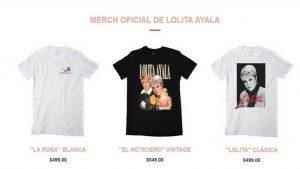 Lolita Ayala, lanza su colección de playeras